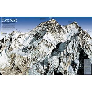 National Geographic Mappa Monte Everest, 50esimo anniversario - fronte/retro