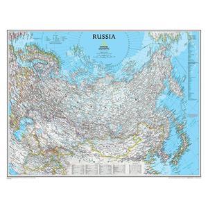 Carte géographique National Geographic La Russie politiquement
