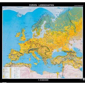 Karte Von Europa.Klett Perthes Verlag Kontinent Karte Europa Landschaften