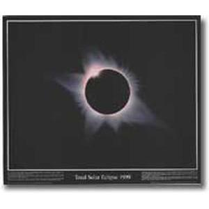 Poster Total Solar Eclipse 1999 - HANDSIGNIERT