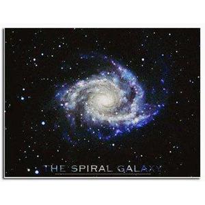 Poster Galassia spirale nella Macchina Pneumatica