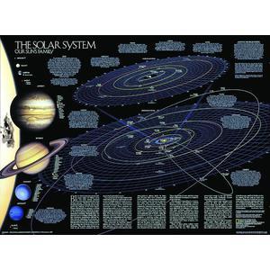 National Geographic Il Sistema Solare (Poster fronte/retro)