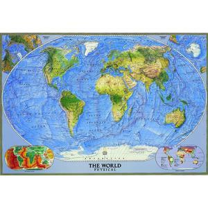 National Geographic Physische Weltkarte groß
