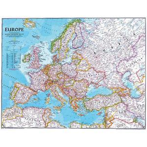 National Geographic Mappa Continentale Europa politica grande