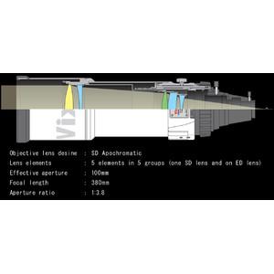 Vixen Apochromatischer Refraktor AP 100/380 VSD100 F3.8 OTA
