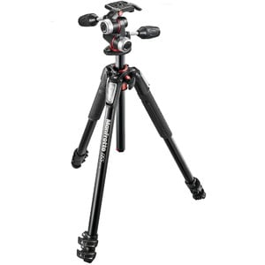 Trépied en aluminium Manfrotto Kit statif tripode MK055XPRO3-3W avec inclinaison 3 voies
