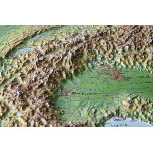 Cartina 3d Alpi.Georelief Mappa Regionale Arco Alpino Carta In Rilievo Piccola In Tedesco