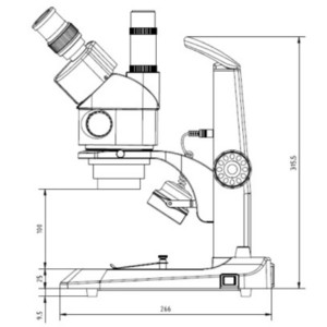 Euromex StereoBlue SB.1903, zoom, trino, 0,7x-4,5x