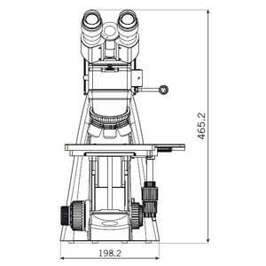 "Motic Microscopio BA310 MET-T, trinoculare, (3""x2"")"
