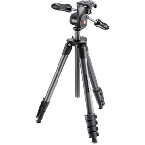 Manfrotto Compact Advanced set treppiede fotografico, nero