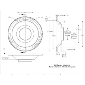 Celestron Telescope Astrograph S 279/620 RASA 1100 V1 OTA