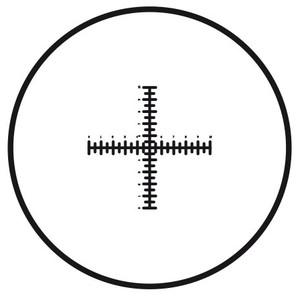Motic Strichplatte Fadenkreuz mit doppelter Skalierung (10mm in 100 Teilen), (Ø25mm)