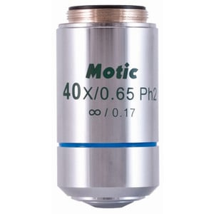 Motic CCIS plan achromatic EC-H PLPH 40X/0.65 positive phase objective (sprung) (AA = 0.5mm)