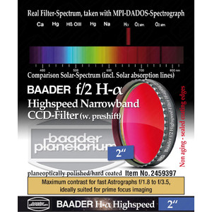 "Baader Filtro H-alpha Highspeed f/2 2"""