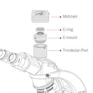 "Motic Fotocamera Pro S5 Plus, color, sCMOS, 2/3"", 5MP, USB3.1"