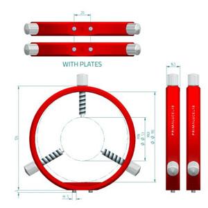 PrimaLuceLab Abrazaderas para tubo guía PLUS de 115mm