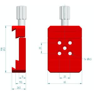 PrimaLuceLab Morsetti per piastra a coda di rondine PLUS Vixen/Losmandy