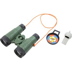 Entdecker-Set mit Fernglas, Kompass und Pfeife