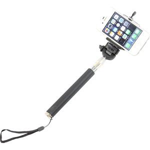Monopie de aluminio Selfie-Stick für Smartphones und kompakte Fotokameras, pink
