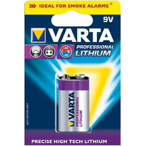 Varta 9 volt 'Professional' lithium block battery