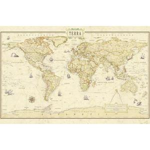 Mappemonde Terra by Columbus Renaissance World Map