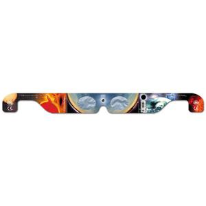 Baader Filtros solares Gafas para eclipse solar Solar Viewer AstroSolar®, plata/dorado, 10 unidades