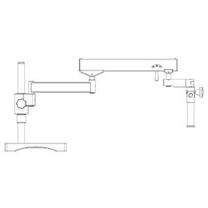 Motic Statif à bras flexible (avec embase), colonne Ø 32mm