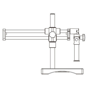 Motic Stativo grande braccio orizzontale, colonna Ø 32 mm, con piastra base
