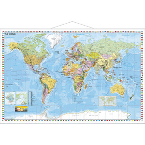 Stiefel Political map of the world, with metal strip