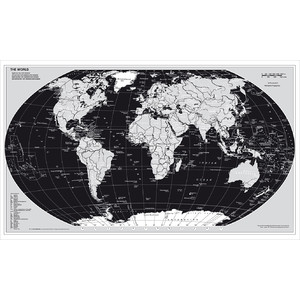 Stiefel Mappa del Mondo Planisfero, Silver Edition