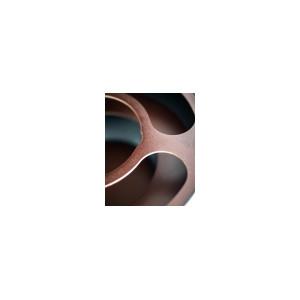 Zoffoli Barglobus Standglobus mit Lenkrollen und Getränkefach Da Vinci Rust
