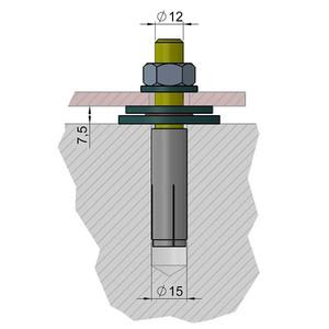 euro EMC Kit de anclaje 1 para mástil de observatorio P200