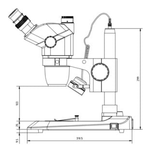 Euromex Zoom-Stereomikroskop NexiusZoom EVO, NZ.1703-P, trino, 6.5x-55x