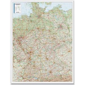 Bacher Verlag Landkarte Straßenkarte Deutschland 1:500.000 laminiert