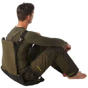 Stealth Gear Padded seat with backrest, foldable, green