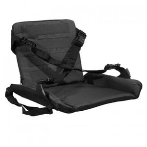 Stealth Gear Padded seat with backrest, foldable, black
