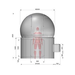Omegon Sternwarten-Kuppel 2m Durchmesser H120