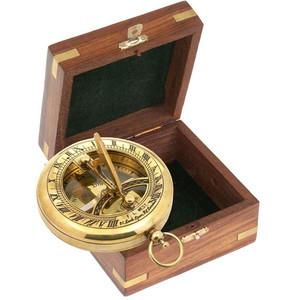 K+R Brújula retro con reloj de sol TOBAGO