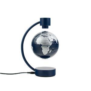 Stellanova Globe en lévitation bleu métallisé 10cm