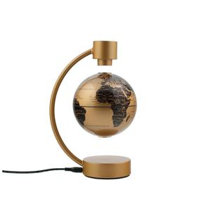 Stellanova floating globe, metallic gold 10cm