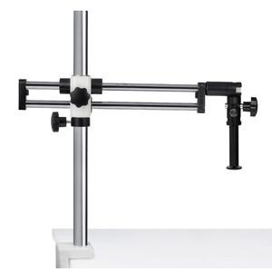 Motic Stativo a doppio braccio con morsetti da tavolo, colonna 25 mm