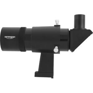 Omegon Căutător 9x50, cu vizualizare în unghi drept şi imagine orientată corect vertical şi orizontal, negru