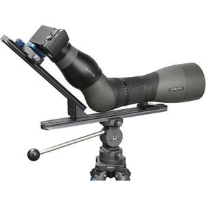 Novoflex Kamerahalterung QPL-SCOPE A Digiscoping Stützbrücke für Spektive mit Winkeleinblick
