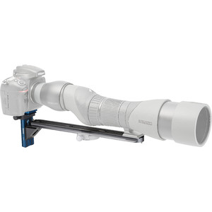 Novoflex Camera bracket QPL-SCOPE S digiscoping support bridge for angled eyepiece spotting scopes