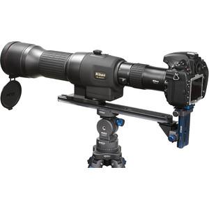 Novoflex Kamerahalterung QPL-SCOPE S Digiscoping Stützbrücke für Spektive mit Geradeeinblick