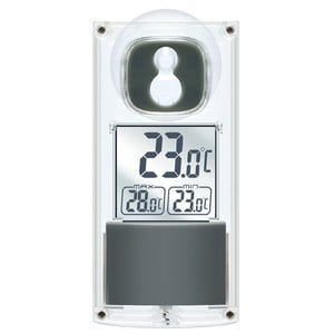 Bresser Wireless weather station Solar window thermometer with suction cup