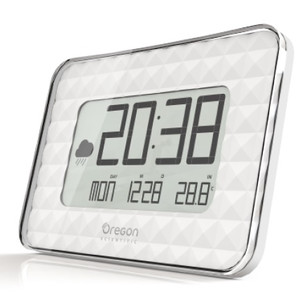 Oregon Scientific Wireless Stazione Meteo JUMBO Orologio da parete JW 208 White
