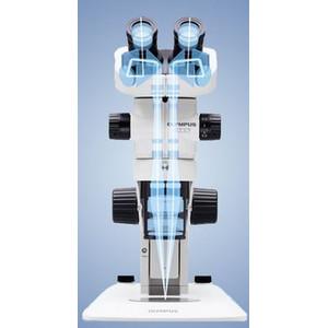 Olympus Microscopio stereo zoom Mikroskop SZX7, bino, 0.8x-5.6x mit Ring-und Durchlicht