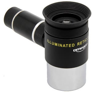Omegon Oculares con retículo Ocular reticulado Kellner de 12 mm retroiluminado