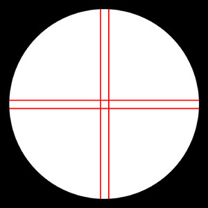 Omegon Fadenkreuzokular Kellner 12mm, beleuchtet
